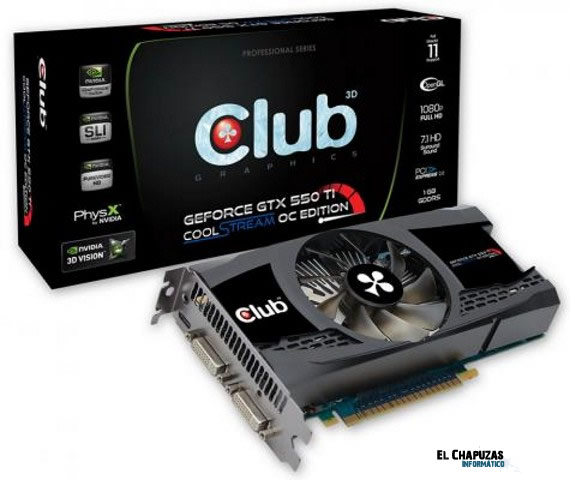 club3d geforce gtx 550ti 0