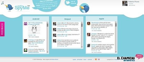 TwitterSpyMe – Sigue usuarios de twitter sin crear tu propia cuenta