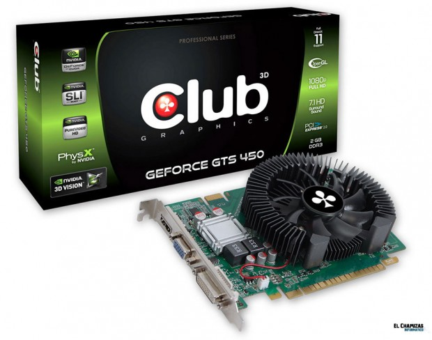 Club 3D GeForce GTS 450 2GB DDR3 e1306437881432 Club 3D presenta su GeForce GTS 450 2GB DDR3 Una gráfica para engañarlos a todos