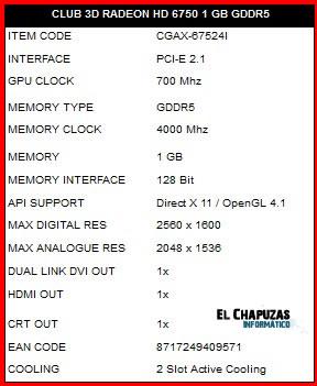 Club 3d 6750 Especificaciones Club 3D anuncia su nueva Radeon HD 6750 1GB GDDR5