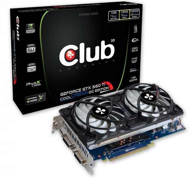 Club 3D GeForce GTX 560 Ti CoolStream OC Edition e1309256020267 0