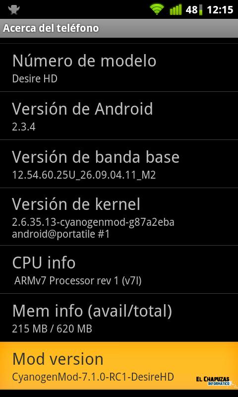 CyanogenMod 7.1.0 RC1 HTC Desire HD 0