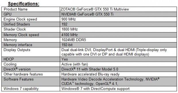 ZOTAC GeForce GTX 550 Ti Multiview Especificaciones e1308667115123 2