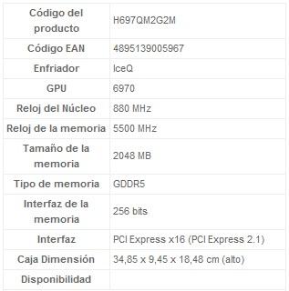 HIS 6970 IceQ Mix 2GB GDDR5 Características 2