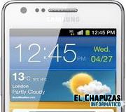 Logo Samsung Galaxy SII Blanco