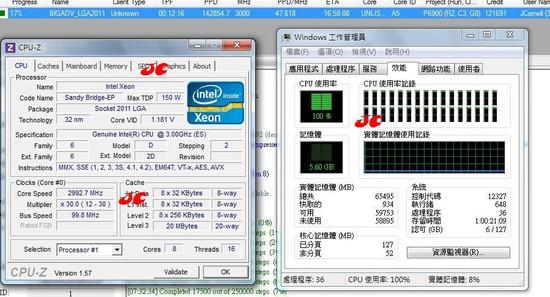 Sandy Bridge EP Intel Xeon TDP 150w 0