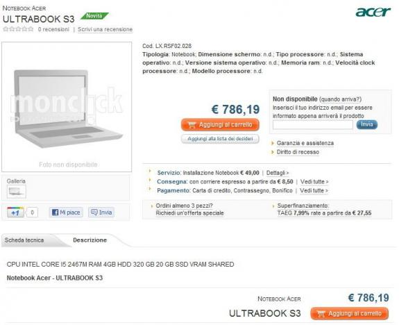 Acer Ultrabook S3 1