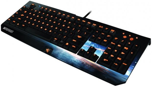 Battlefield 3 BlackWidow Ultimate gaming keyboard 1 e1313598070375 Razer lanza un ejército de periféricos con la marca Battlefield 3