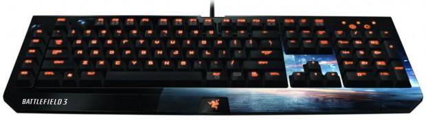 Battlefield 3 BlackWidow Ultimate gaming keyboard e1313598033589 Razer lanza un ejército de periféricos con la marca Battlefield 3
