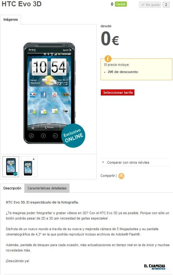 HTC EVO 3D Vodafone 0