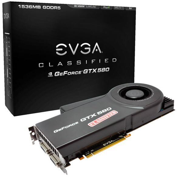 EVGA GTX 580 Classified 1 0