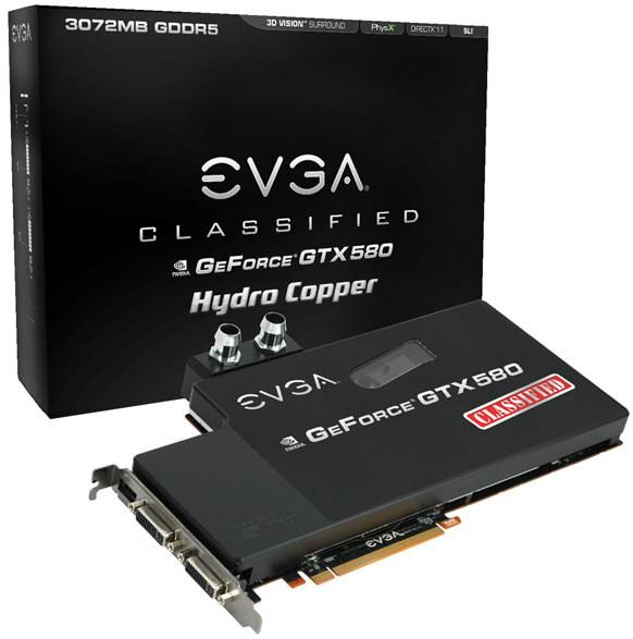 EVGA GeForce GTX 580 Classified Hydro Copper 1 1