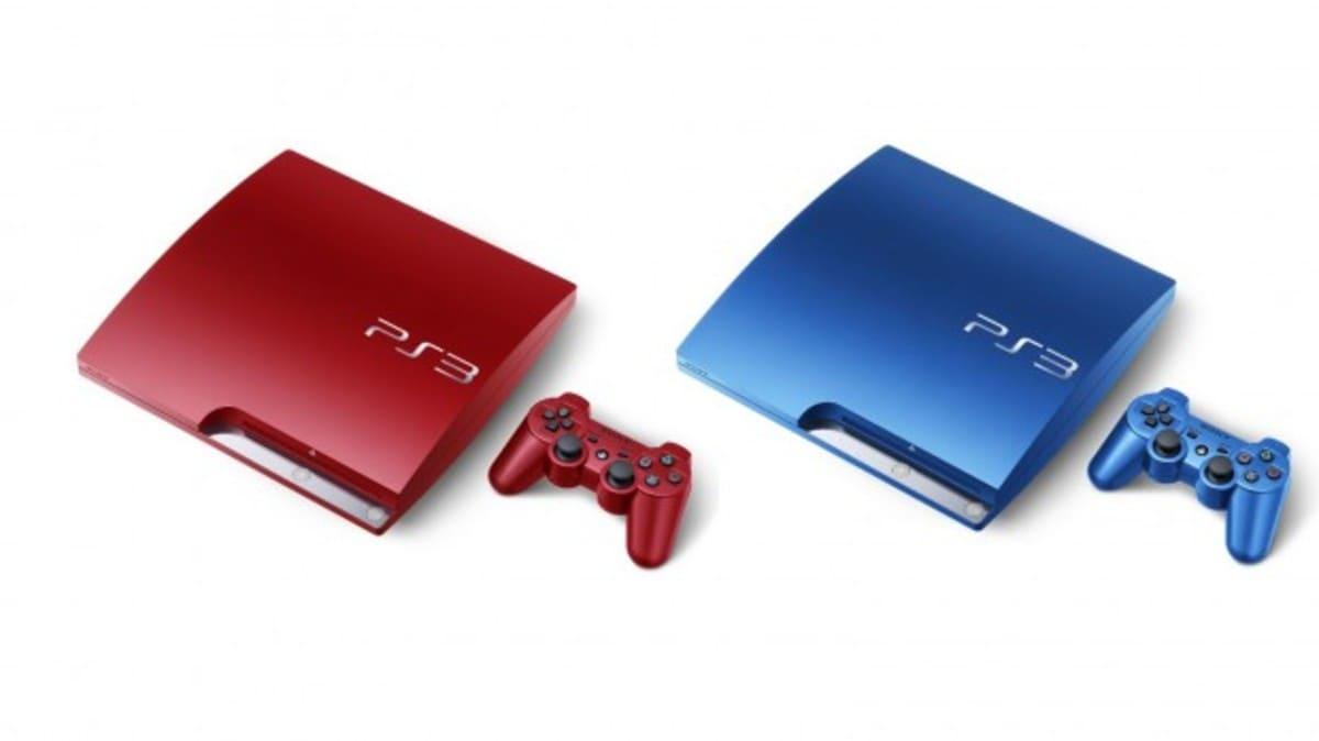PS3 Roja Azul e1316019971711 Sony PlayStation 3 llegará en color rojo y azul en Noviembre
