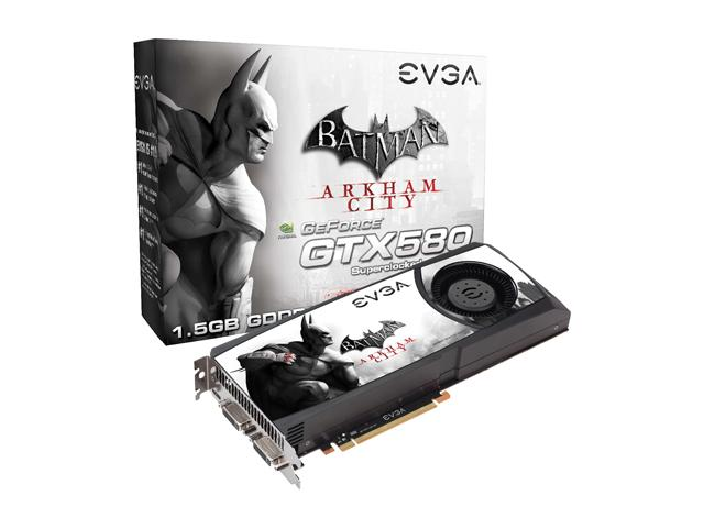 EVGA GeForce GTX 580 Superclocked Batman Arkham City Edition 1 0
