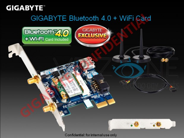 Gigabyte Bluetooth 4.0 + WiFi Card e1320101496541 0