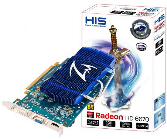 HIS Radeon HD 6670 iSilence4 1 0