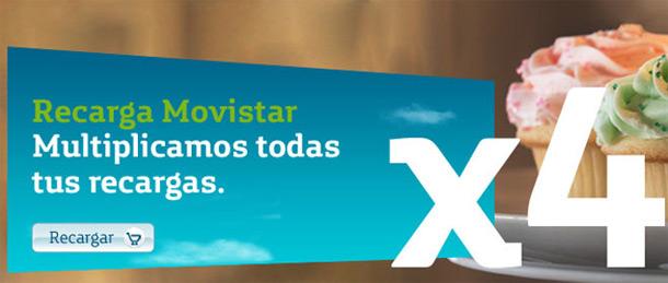 Recarga Movistar X4 0