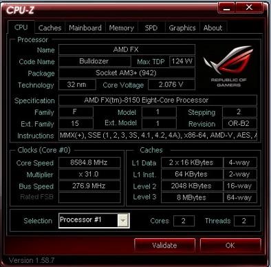 AMD FX 8150 @ 8584.8 MHz 0
