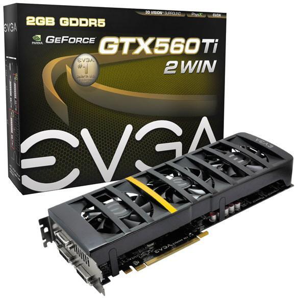 EVGA GeForce GTX 560 Ti 2Win 4 3