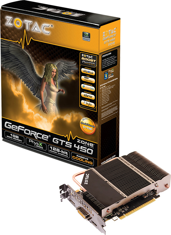 Zotac GeForce GTS 450 Zone Edition 1 0