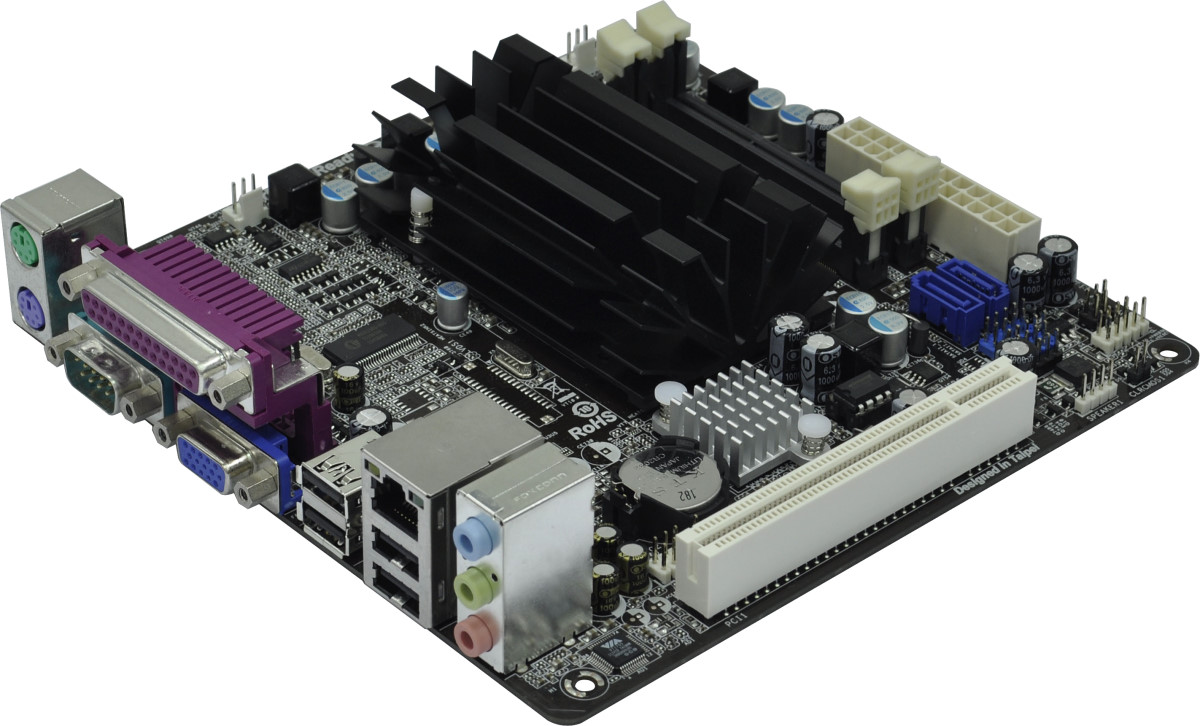 Mini itx board with 2 pci slots