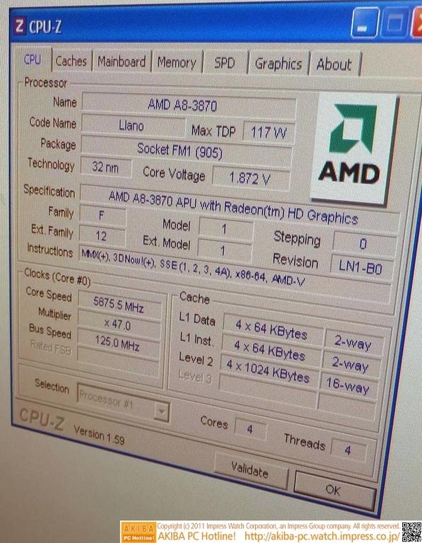 AMD A8 3870K Overclock 3 2