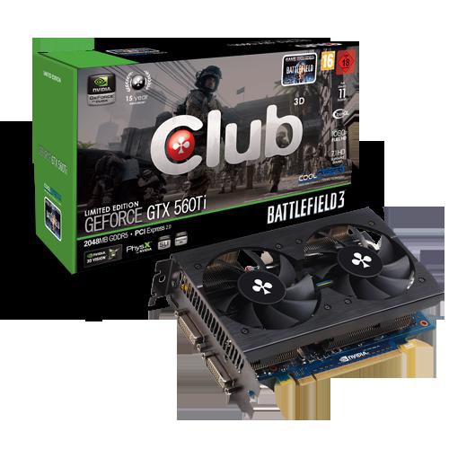 Club 3D GeForce GTX 560 Ti CGNX XT5648 0