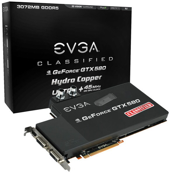 EVGA GeForce GTX 580 Classified Ultra Hydro Copper 1 3