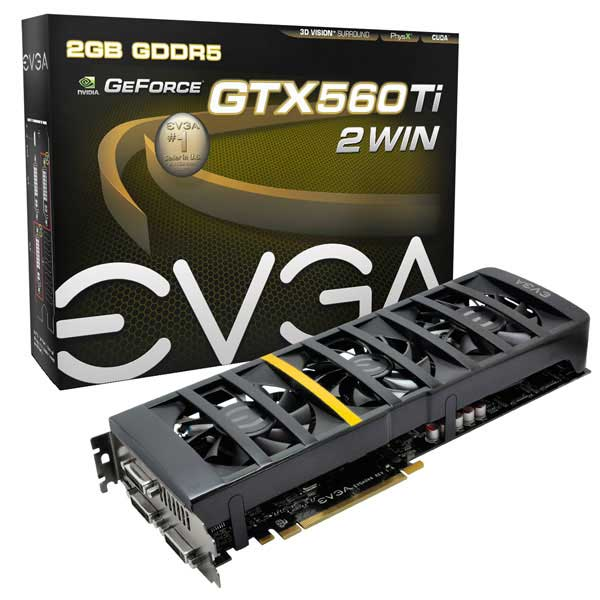 EVGA les envió la GeForce GTX 560 Ti 2Win 0