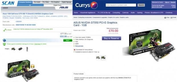 Recorte de precios Nvidia Asus GT550 e1324564069813 0