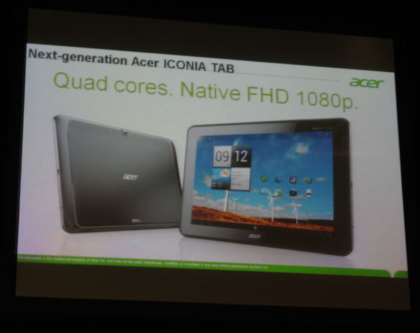 Acer Iconia Tab A700 1 0