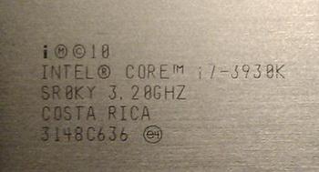 Intel Core i7 3960X stepping C2 0