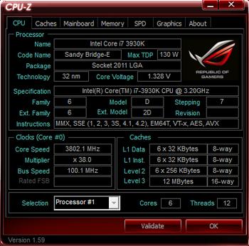 Intel Core i7 3960X stepping C2 1