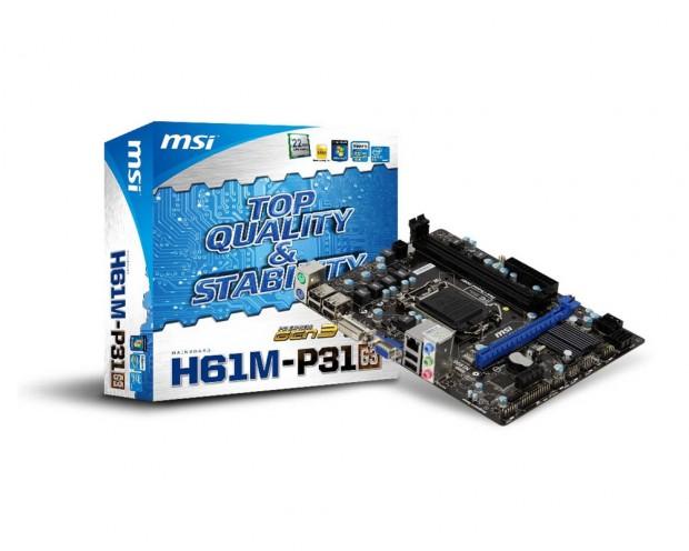 MSI H61M P31 G3 620x496 Filtrado el Intel Core i5 3470