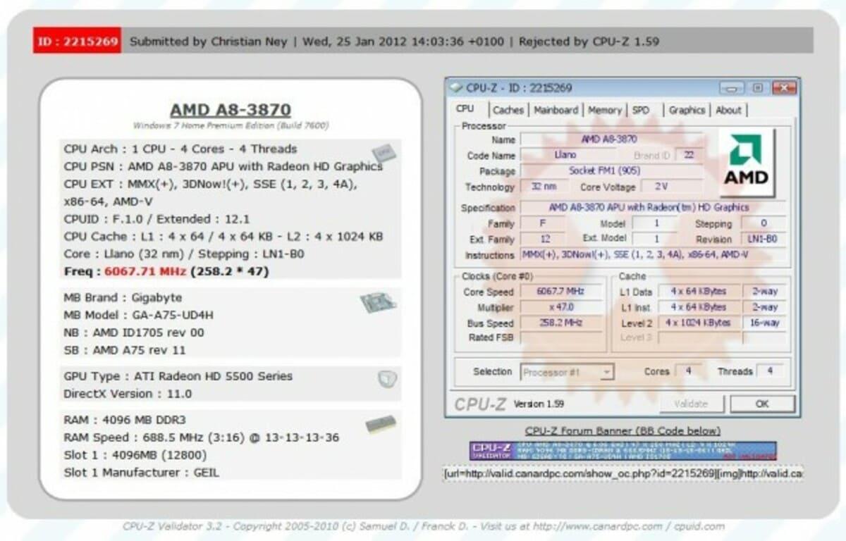 AMD A8 3870K Black Edition a 6067.71 MHz 1 620x397 0