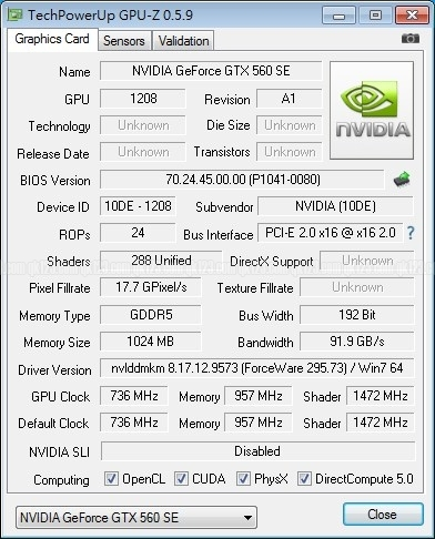 Especificaciones Galaxy GeForce GTX 560 SE 3