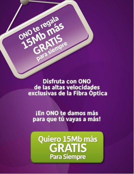 Oferta ONO 15 Megas