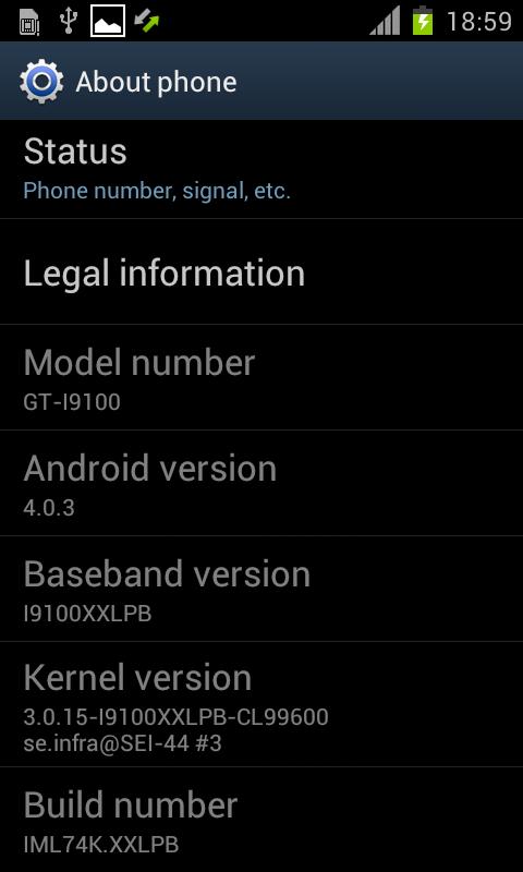 Samsung Galaxy S II I9100XXLPB 1 0
