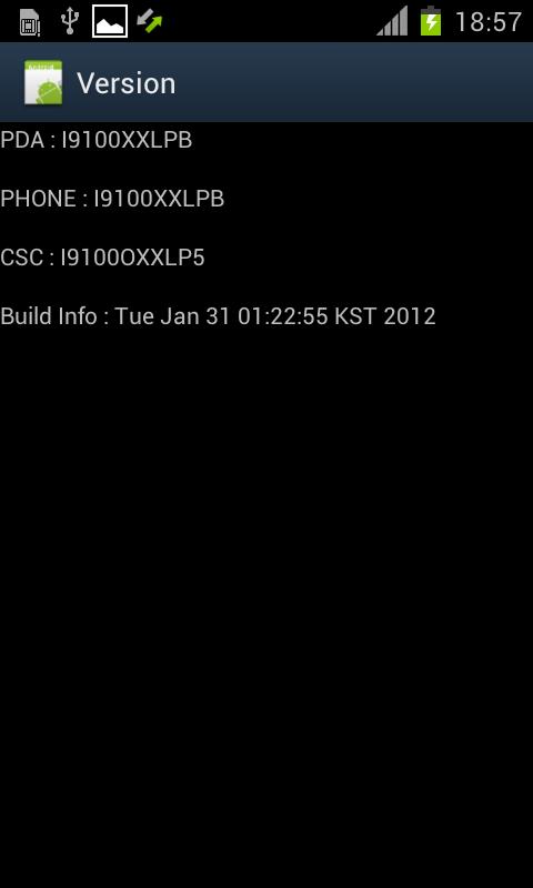 Samsung Galaxy S II I9100XXLPB 2 1