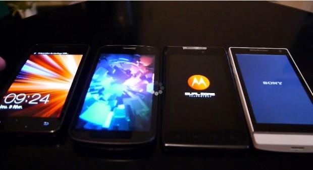 Sony Xperia S vs Samsung Galaxy S II vs Samsung Galaxy Nexus vs Motorola Droid Razr 620x338 Sony Xperia S se ve las caras con el Galaxy S II, Nexus y Motorola Razr