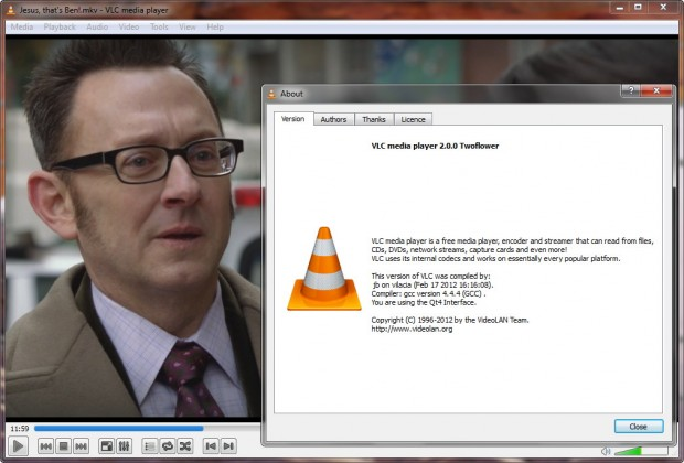 VLC Media Player 2.0.0 Twoflower 620x420 0