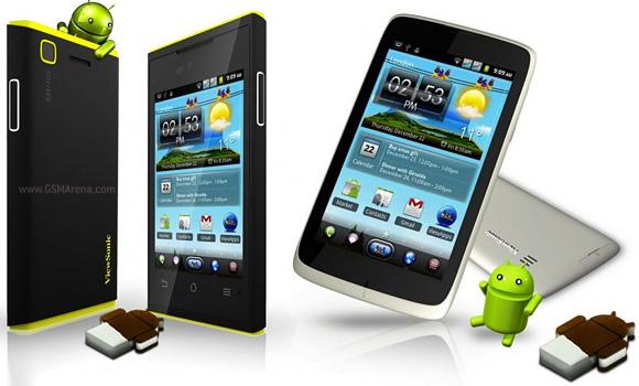 ViewSonic 4S y ViewSonic 5e ViewSonic presentará tres teléfonos dual SIM con Android ICS