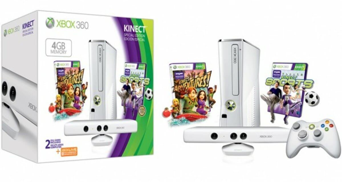 Xbox 360 y Kinect en color blanco 1 620x331 0