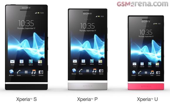 Xperia S vs Xperia P vs Xperia U Sony anuncia los Xperia P y Xperia U