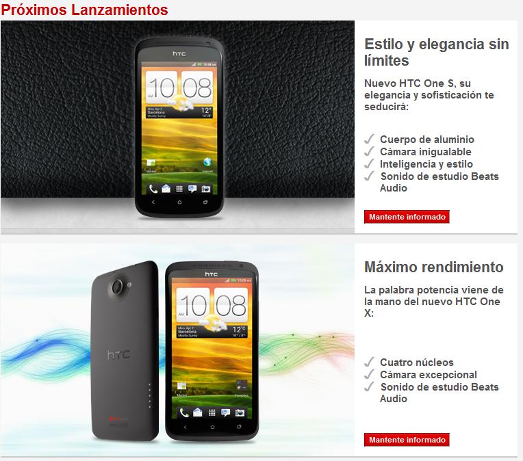 HTC One X y HTC One S Elchapuzasinformatico