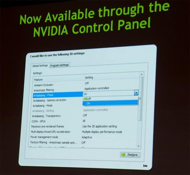Nvidia Control Panel FXAA 620x570 0