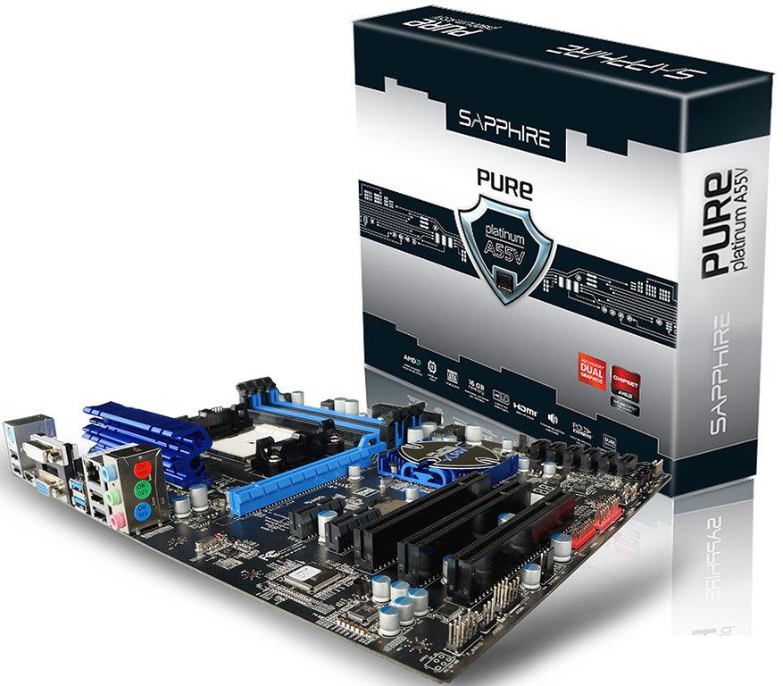 Sapphire lanza la placa base Pure Platinum A55V
