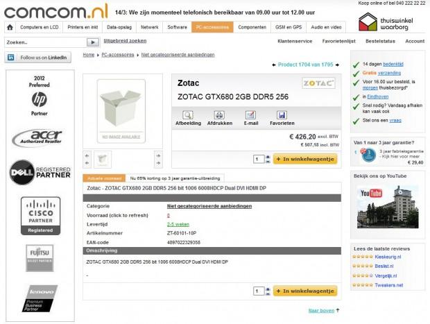 Zotac GeForce GTX 680 en reserva 620x467 0