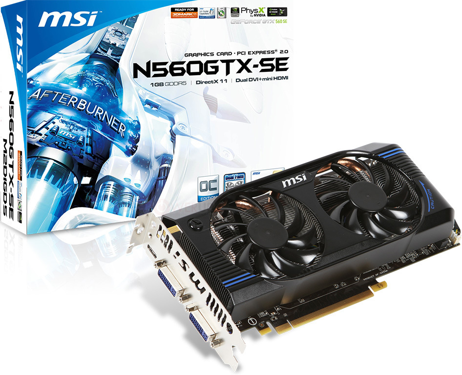MSI lanza la GeForce GTX 560 SE OC