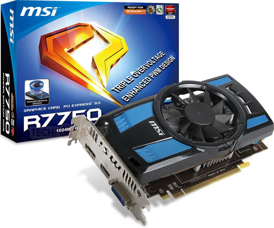 MSI R7750 Power Edition 1GD5OC